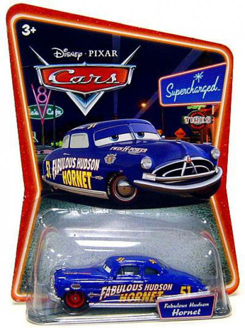 Disney / Pixar Cars Supercharged Fabulous Hudson Hornet Diecast Car [Red Hub Caps]