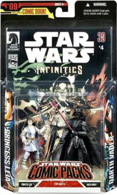 Star Wars Expanded Universe Comic Packs 2007 Darth Vader & Princess Leia Action Figure 2-Pack