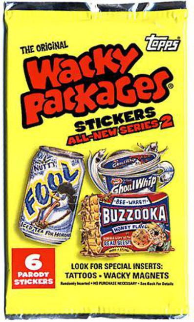 Wacky Packages Topps All-New Series 2 Trading Card Sticker Pack