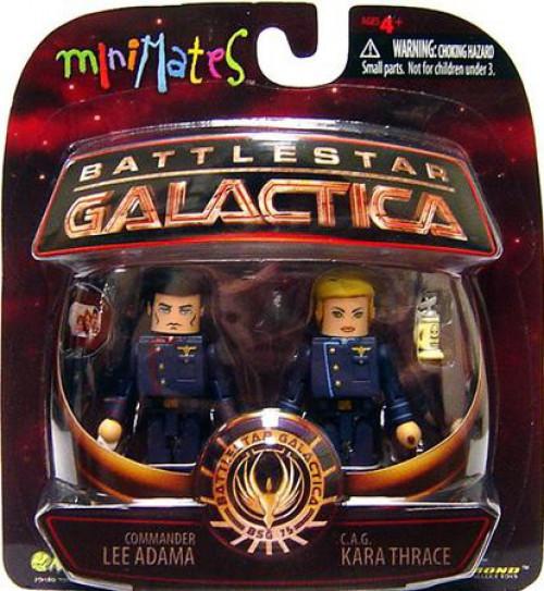 Battlestar Galactica Modern Series 3 MiniMates CAG Kara Thrace & Commander Lee Adama Minifigure 2-Pack