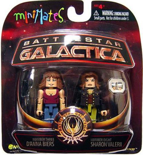 Battlestar Galactica Modern Series 3 MiniMates D'anna Biers & Sharon Valerii Minifigure 2-Pack