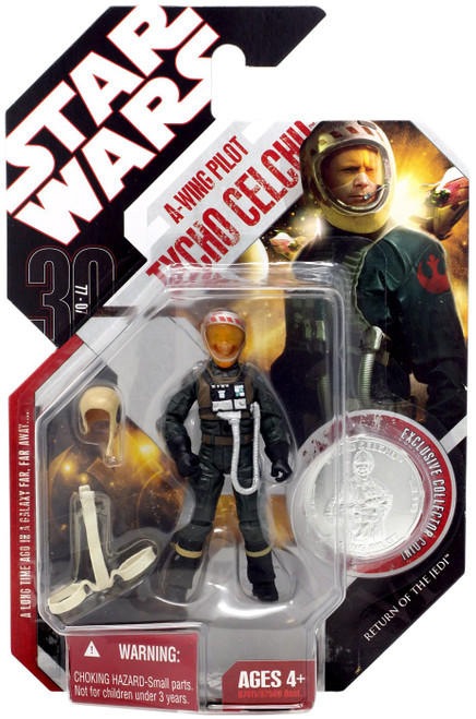 Star Wars Return of the Jedi 2007 30th Anniversary Wave 7 A-Wing Pilot Tycho Celchu Action Figure #44