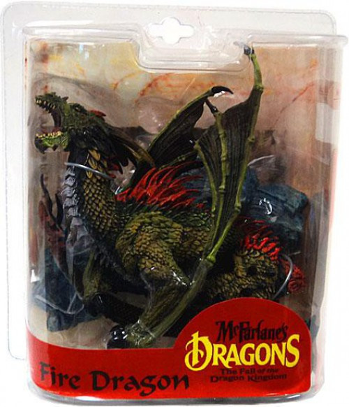 McFarlane Toys Dragons The Fall of the Dragon Kingdom Series 7 Fire Dragon Clan Action Figure