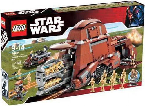LEGO Star Wars Phantom Menace Trade Federation MTT Set #7662
