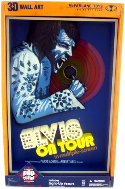 McFarlane Toys Pink Banner Pop Culture Masterworks Elvis On Tour 3-D Wall Hanging