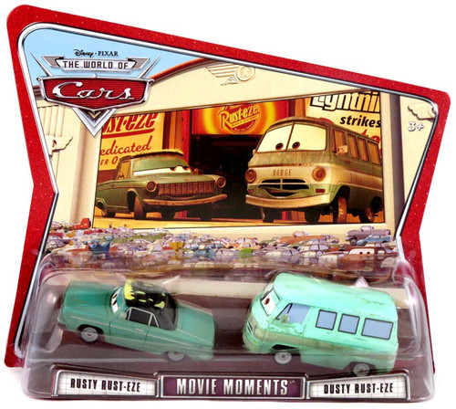 Disney / Pixar Cars The World of Cars Movie Moments Rusty & Dusty Rust-eze Diecast Car 2-Pack