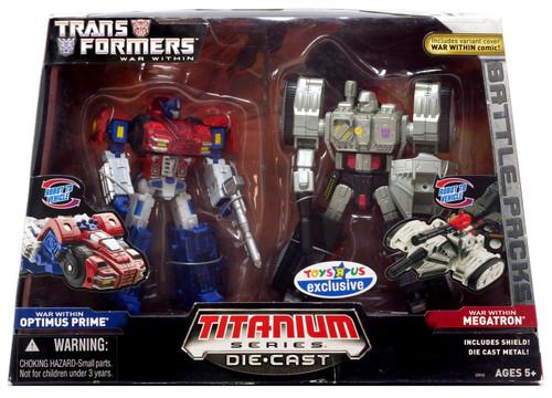 "Transformers War Within TItanium Series Optimus Prime & Megatron 6-Inch 6"" Diecast Figure"