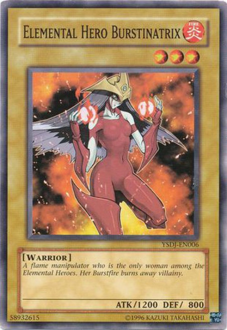 YuGiOh GX Trading Card Game Starter Deck: Jaden Yuki Common Elemental Hero Burstinatrix YSDJ-EN006
