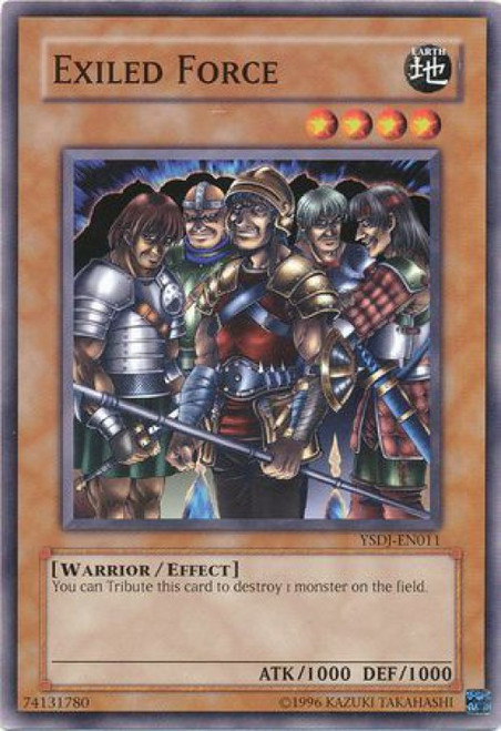YuGiOh GX Trading Card Game Starter Deck: Jaden Yuki Common Exiled Force YSDJ-EN011