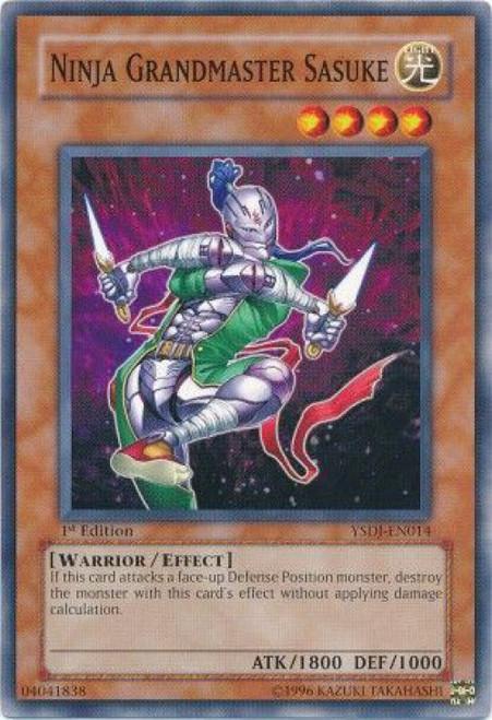 YuGiOh GX Trading Card Game Starter Deck: Jaden Yuki Common Ninja Grandmaster Sasuke YSDJ-EN014