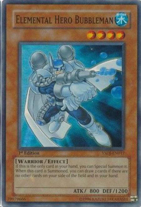 YuGiOh GX Starter Deck: Jaden Yuki Super Rare Elemental Hero Bubbleman YSDJ-EN017