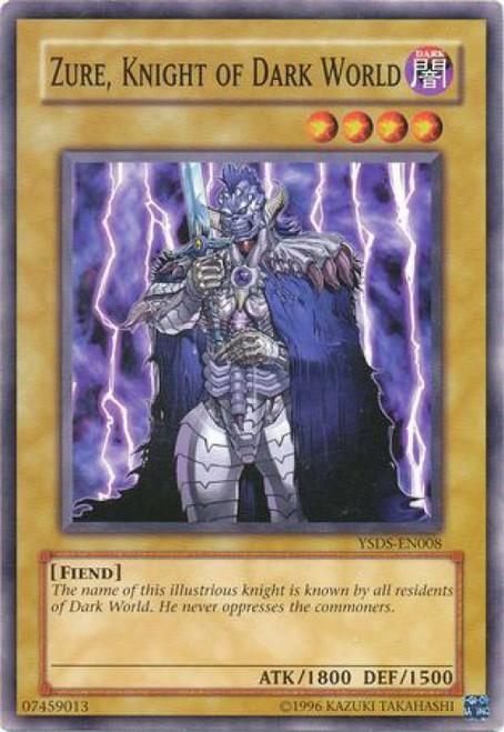 YuGiOh GX Syrus Truesdale Starter Deck Common Zure, Knight of Dark World YSDS-EN008