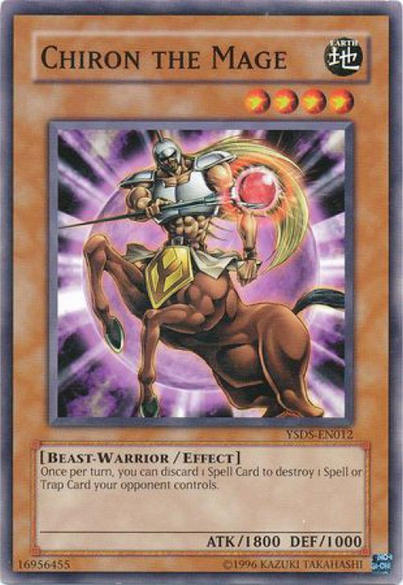 YuGiOh GX Syrus Truesdale Starter Deck Common Chiron the Mage YSDS-EN012
