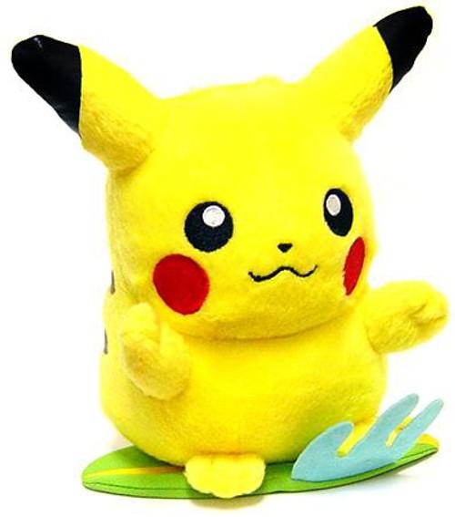 Pokemon Diamond & Pearl 5 Inch Pikachu Plush [Standing on Surfboard]