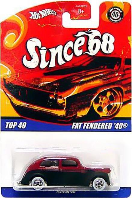Hot Wheels Since '68 Fat Fendered '40 Diecast Car #24