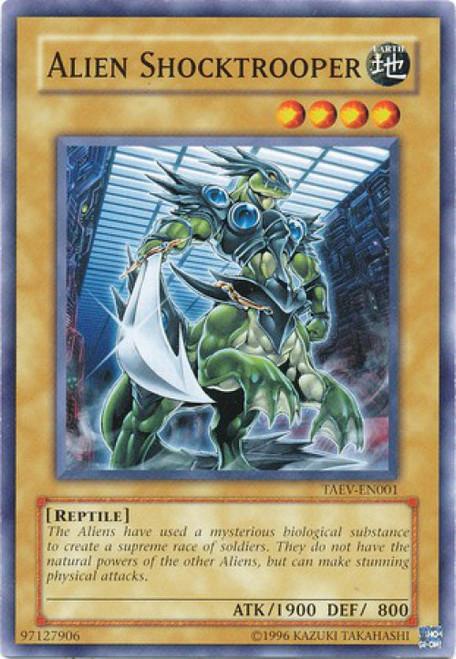 YuGiOh GX Trading Card Game Tactical Evolution Common Alien Shocktrooper TAEV-EN001