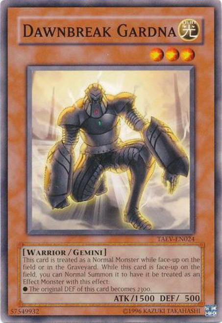 YuGiOh GX Trading Card Game Tactical Evolution Common Dawnbreak Gardna TAEV-EN024