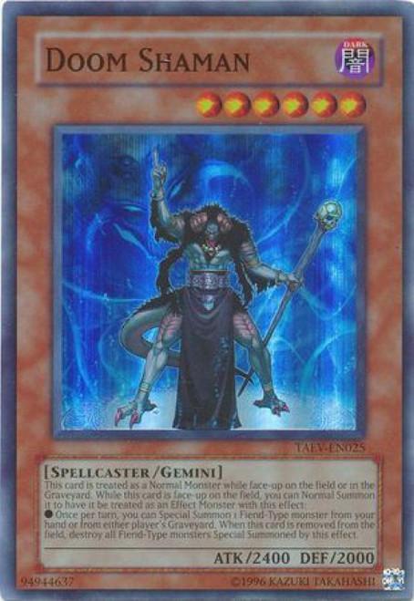 YuGiOh GX Trading Card Game Tactical Evolution Super Rare Doom Shaman TAEV-EN025