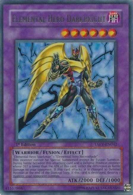 YuGiOh GX Trading Card Game Tactical Evolution Ultra Rare Elemental Hero Darkbright TAEV-EN042
