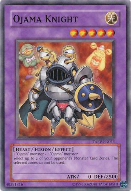 YuGiOh GX Trading Card Game Tactical Evolution Common Ojama Knight TAEV-EN044
