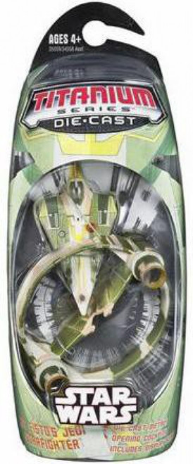 Star Wars The Clone Wars Titanium Series 2006 Kit Fisto Jedi Starfighter Diecast Vehicle