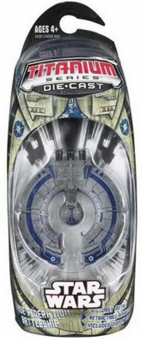 Star Wars Expanded Universe Titanium Series 2006 Trade Federation Droid Battleship Diecast Vehicle