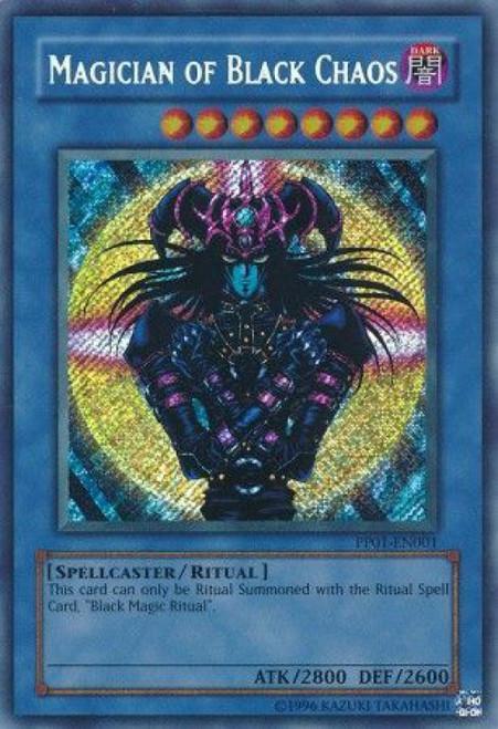 YuGiOh GX Trading Card Game Premium Pack 1 Secret Rare Magician of Black Chaos PP01-EN001