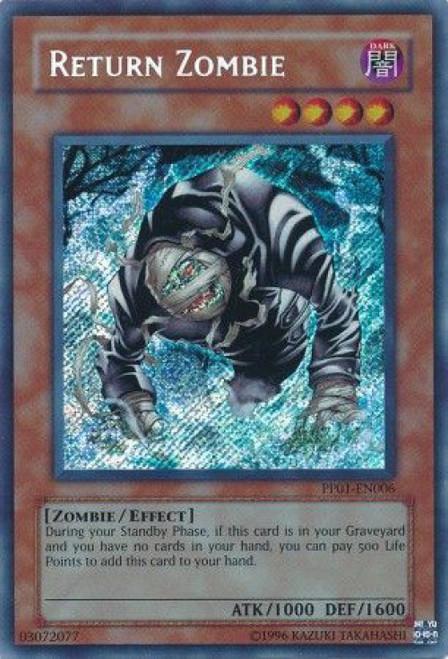YuGiOh GX Trading Card Game Premium Pack 1 Secret Rare Return Zombie PP01-EN006