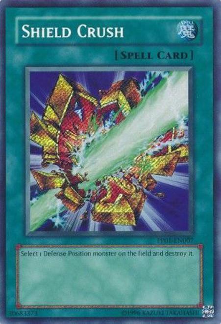 YuGiOh GX Trading Card Game Premium Pack 1 Secret Rare Shield Crush PP01-EN007
