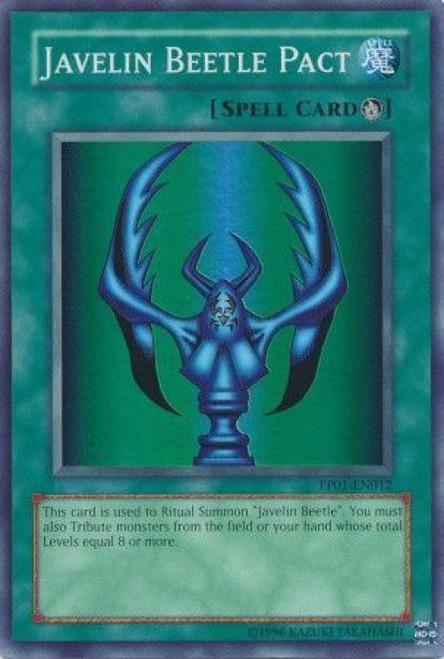 YuGiOh GX Trading Card Game Premium Pack 1 Super Rare Javelin Beetle Pact PP01-EN012