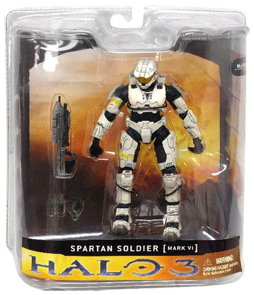 McFarlane Toys Halo 3 Series 1 Spartan Soldier Mark VI Exclusive Action Figure [White]
