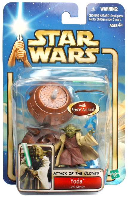 Star Wars Attack of the Clones Basic 2002 Collection 1 Yoda Action Figure #33 [Jedi Master]