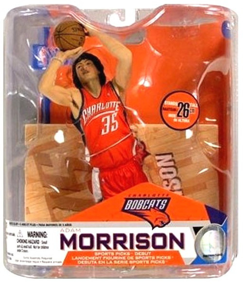 McFarlane Toys NBA Charlotte Bobcats Sports Picks Series 14 Adam Morrison Action Figure [Orange Jersey]