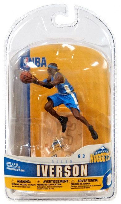 McFarlane Toys NBA Denver Nuggets Sports Picks 3 Inch Mini Series 5 Allen Iverson Mini Figure