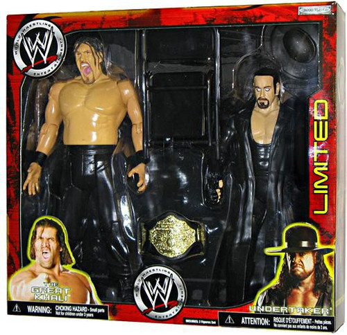 WWE Wrestling Exclusives Undertaker & Khali Exclusive Action Figure 2-Pack