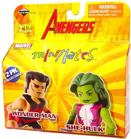 Marvel Avengers Minimates Series 16 Wonder Man & She Hulk Minifigure 2-Packs