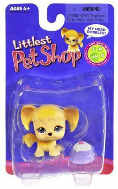 Littlest Pet Shop Mutt Figure #291 [Tan with Treat Dish]