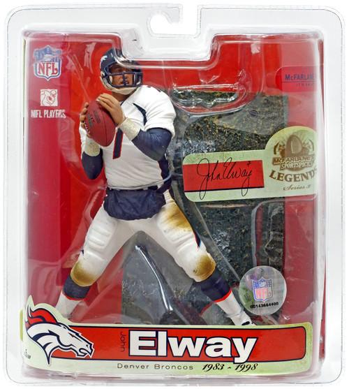 McFarlane Toys NFL Denver Broncos Sports Picks Legends Series 3 John Elway Action Figure [White Jersey Variant]