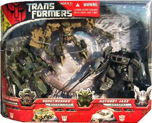 Transformers Movie Brawl, Bonecrusher & Autobot Jazz Exclusive Deluxe Action Figure 3-Pack