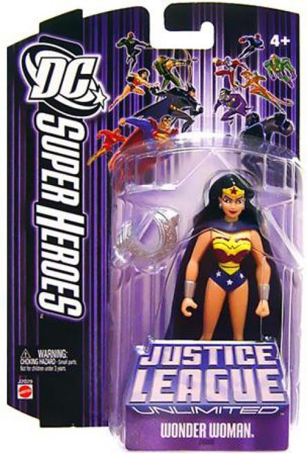 DC Justice League Unlimited Super Heroes Wonder Woman Action Figure [Cape & Armor Purple Card]