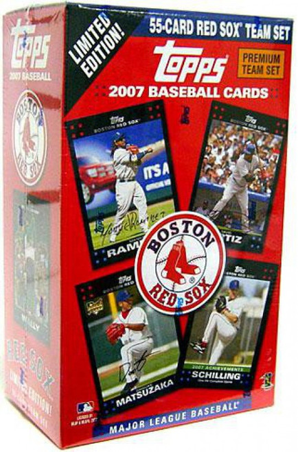 MLB 2007 Baseball Boston Red Sox Trading Card Team Set [55 Cards]
