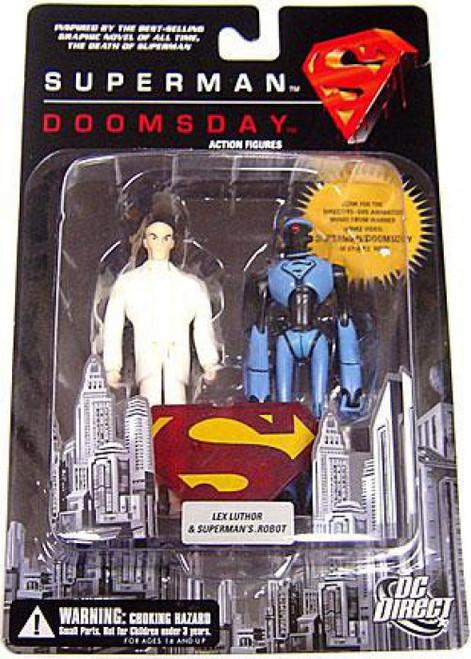 DC Superman Doomsday Lex Luthor & Superman's Robot Action Figure 2-Pack