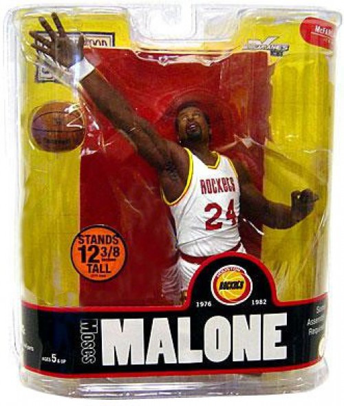 McFarlane Toys NBA Houston Rockets Sports Picks Legends Series 3 Moses Malone Action Figure [White Jersey Variant]