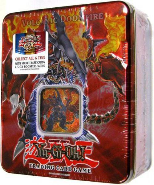 YuGiOh GX Trading Card Game 2007 Volcanic Doomfire Tin Set