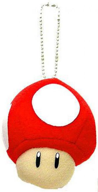 Super Mario Super Mushroom Plush Keychain