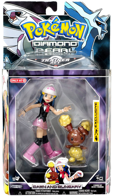 Pokemon Diamond & Pearl Trainer Sets Dawn & Buneary Exclusive Action Figure Set