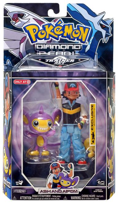 Pokemon Diamond & Pearl Trainer Sets Ash & Aipom Exclusive Action Figure Set