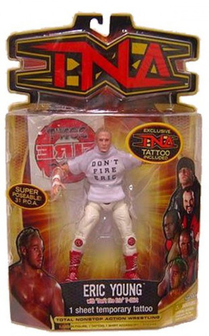 TNA Wrestling Series 8 Eric Young Action Figure [Don't Fire Eric Shirt]