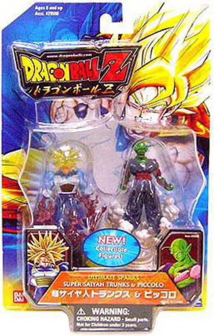 Dragon Ball Z Ultimate Sparks Super Saiyan Trunks & Piccolo 2.5-Inch PVC Figure 2-Pack