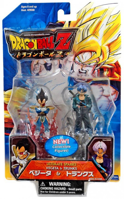 Dragon Ball Z Ultimate Sparks Vegeta & Trunks 2.5-Inch PVC Figure 2-Pack